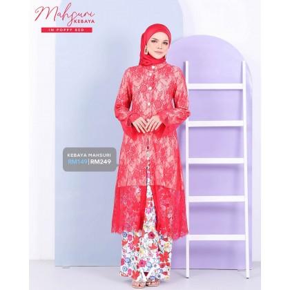 Mahsuri Kebaya Poppy Red