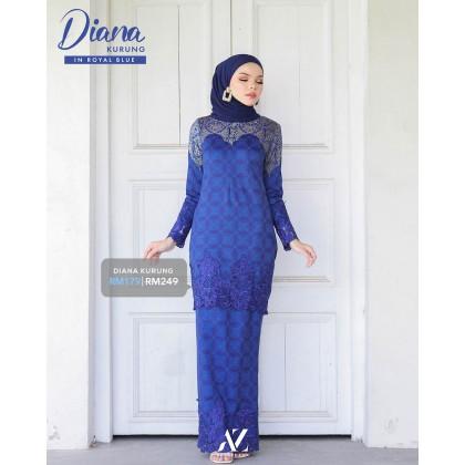 Diana Kurung Royal Blue