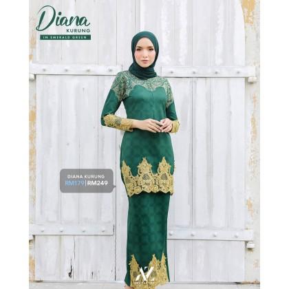 Diana Kurung Emerald