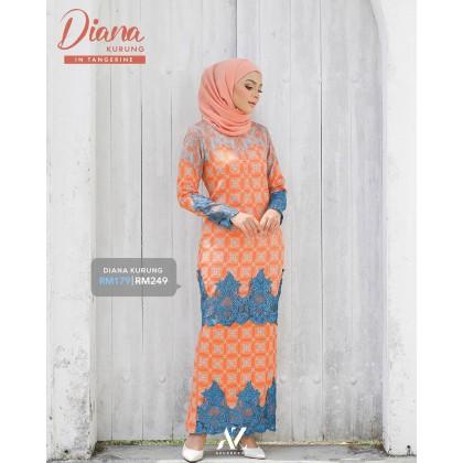 Diana Kurung Tangerine