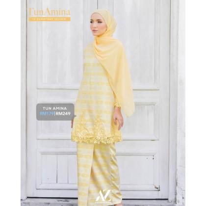 Tun Amina Songket Kurung-Sunny Day Yellow